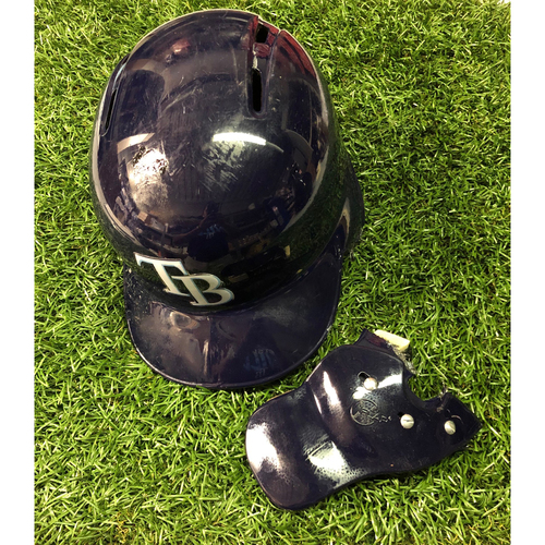 Photo of Game Used HOME RUN (2) Helmet: Mike Zunino - First HR as a Tampa Bay Ray - April 22 (v KC), July 5 (v NYY) (2019 Season)