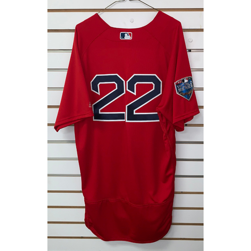 Photo of Rick Porcello Team Issued 2018 World Series Home Alternate Jersey