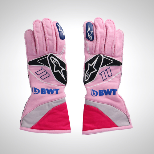 Photo of Sergio Pérez 2019 Unworn Race Gloves - SportPesa Racing Point F1 Team