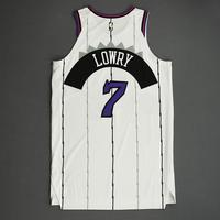 Kyle Lowry - Toronto Raptors - Game-Worn Classic Edition 1995-96 Home Jersey - Scored Game-High 26 Points - 2019-20 Season