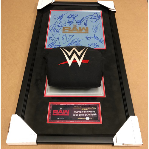 Photo of Raw 2019 SIGNED Ring Canvas and Turnbuckle Plaque (Multiple Superstars) Random Number