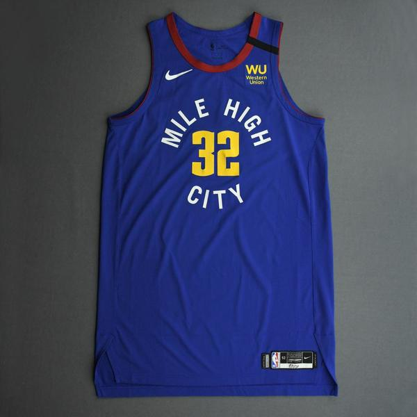 Image of Noah Vonleh - Denver Nuggets - Game-Worn Statement Edition Jersey - 2019-20 NBA Season Restart with Social Justice Message