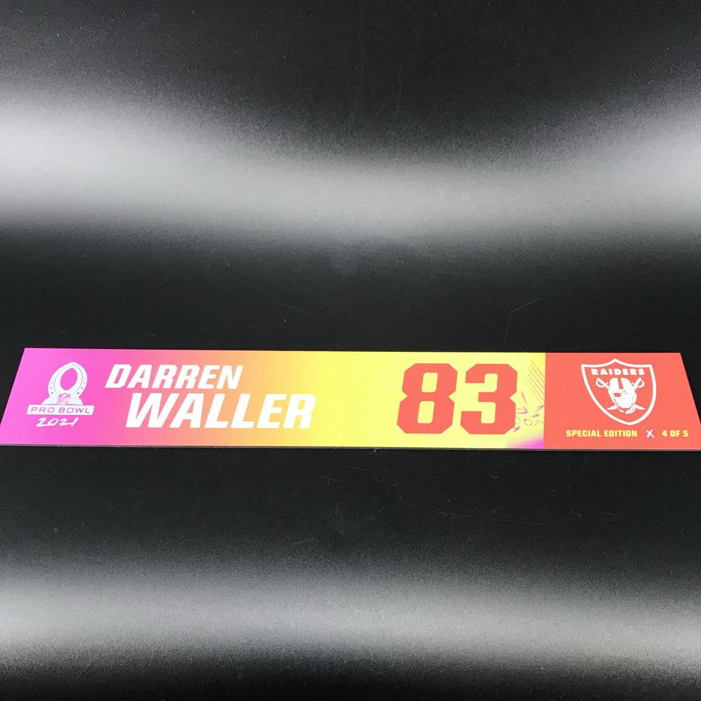 NFL - Raiders Darren Waller 2021 Pro Bowl Locker Nameplate Special Edition #4 of 5