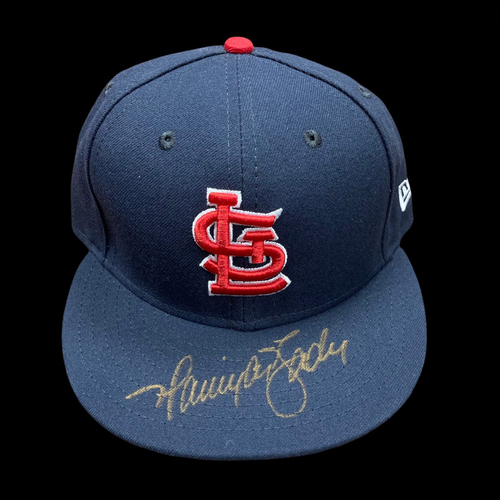 Harrison Bader Autographed Team Issued Road Cap (Size 7 1/8)