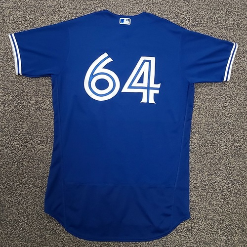 Photo of Authenticated Team Issued Spring Training Jersey: #64 Travis Bergen (2021 Season). Size 46.