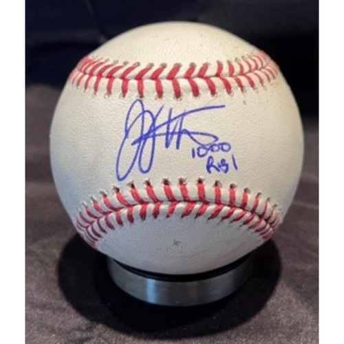 Photo of Joey Votto *Game-Used, Autographed & Inscribed* Baseball from 1,000th Career RBI Game - Vladimir Gutierrez to Manny Machado (Walk) -- 06/30/2021 - SD vs. CIN - Top 5