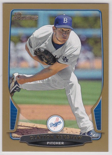Photo of 2013 Bowman Gold #91 Clayton Kershaw