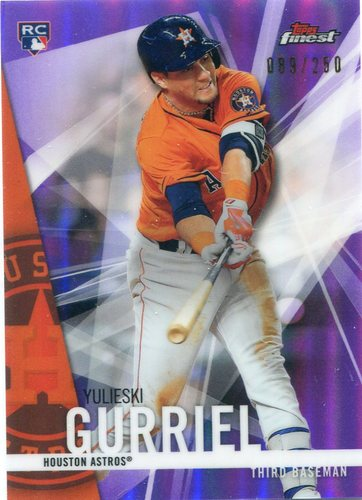 Photo of 2017 Finest Purple Refractors #90 Yulieski Gurriel 089/250