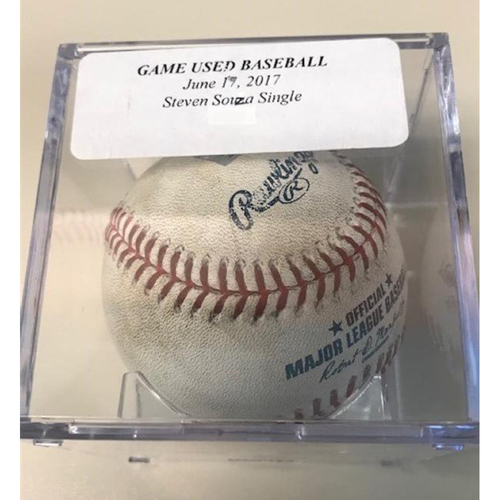 Photo of Game-Used Baseball: Steven Souza Single