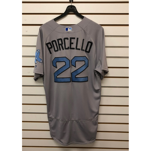 Photo of Rick Porcello Game-Used June 18, 2017 Father's Day Road Jersey