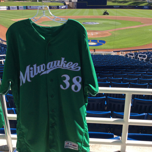 Photo of Ernesto Frieri 2018 Team-Issued St. Patrick's Day Jersey