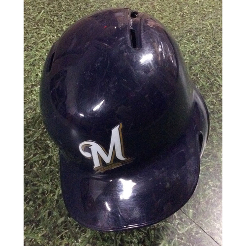 Photo of Manny Pina 2018 Game-Used Opening Day Batting Helmet