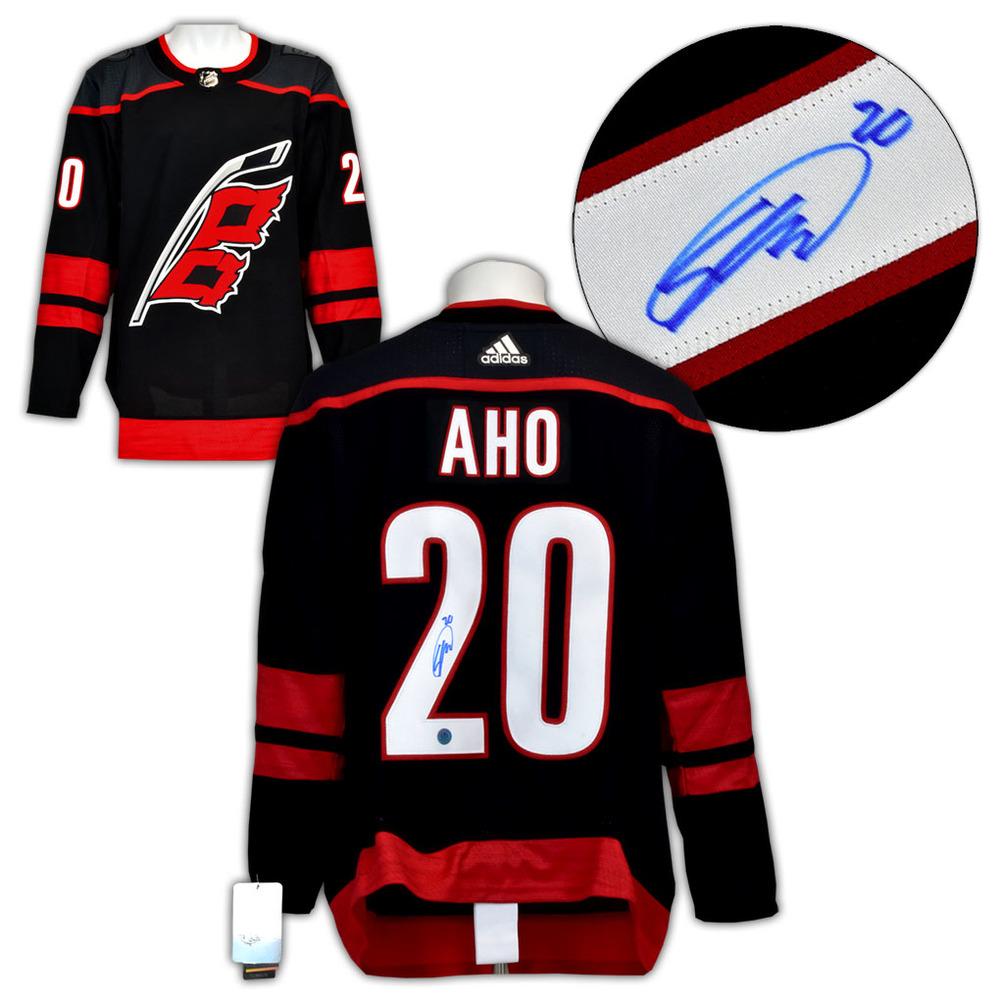 Sebastian Aho Carolina Hurricanes Signed Black ALT Adidas Authentic Jersey