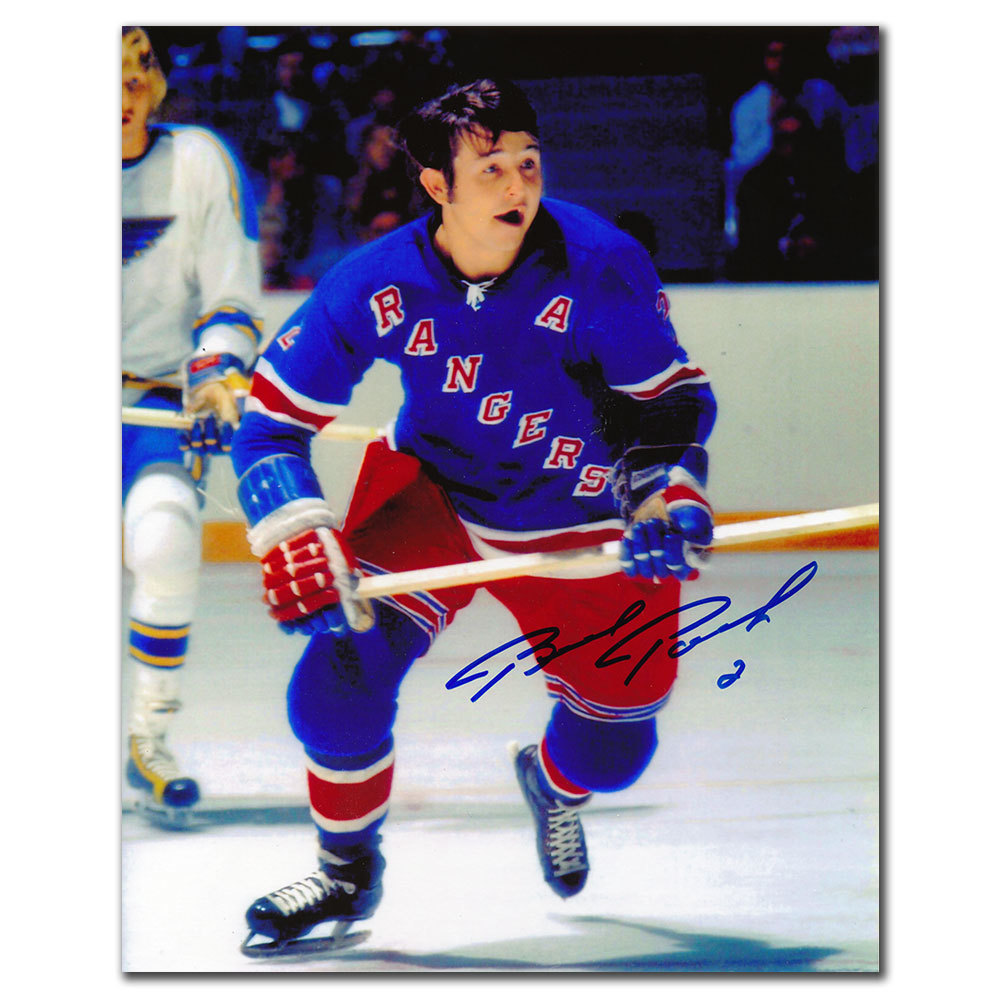 Brad Park New York Rangers ACTION Autographed 8x10