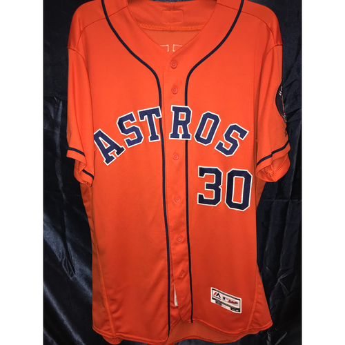 2019 Game-Used Hector Rondon Orange Alternate Jersey (Size 46)