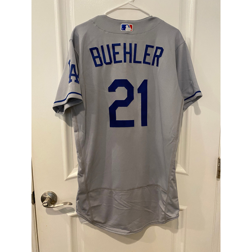 Photo of Walker Buehler Authentic Game-Used Jersey from 8/16/20 Game vs LAA - Size  42C