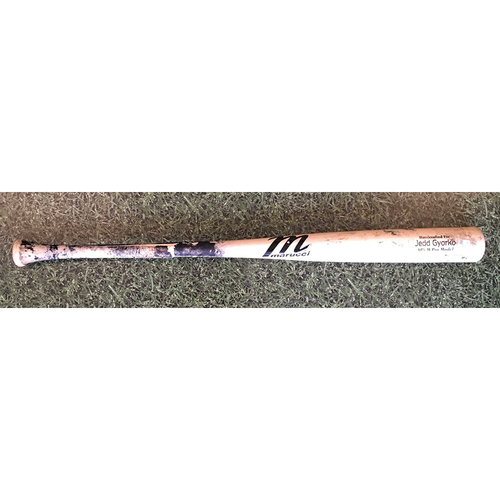 Photo of Jedd Gyorko 09/12/20 Game-Used Cracked Bat - Broken Hitting Single