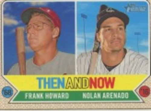 Photo of 2017 Topps Heritage Then and Now #TAN2 Nolan Arenado/Frank Howard