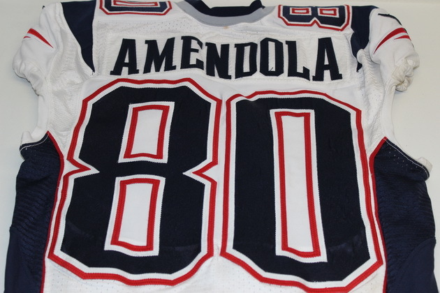 uk availability a3ccd 68910 NFL Auction | PATRIOTS DANNY AMENDOLA GAME USED PATRIOTS ...
