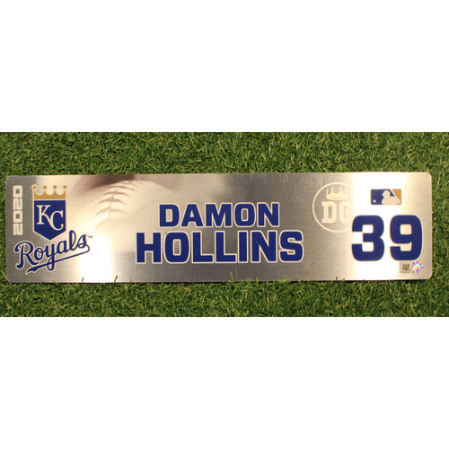 Photo of Game-Used Locker Tag: Damon Hollins #39 (DET @ KC 9/24/20)