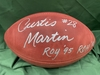 PCC - Jets Curtis Martin Signed Official Football w/ Inscriptions (benefitting the Marty Lyons Foundation)