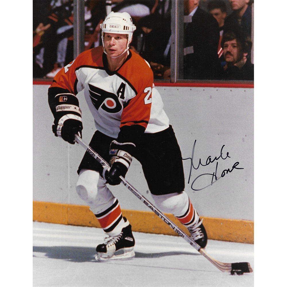 Mark Howe Autographed Philadelphia Flyers 8X10 Photo
