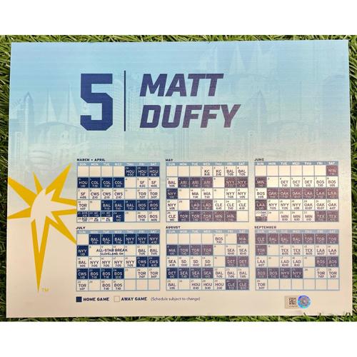 Photo of Rays Baseball Foundation: Game Used Opening Day Locker Tag: Matt Duffy - March 28, 2019 v HOU