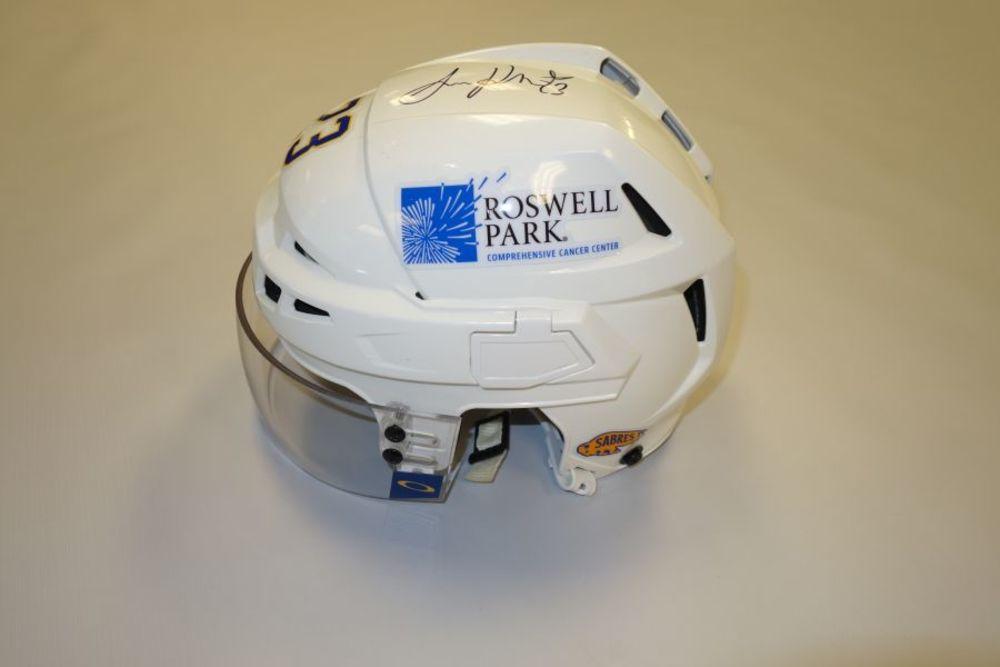 Sam Reinhart 2020-21 Autographed Game-Used Helmet