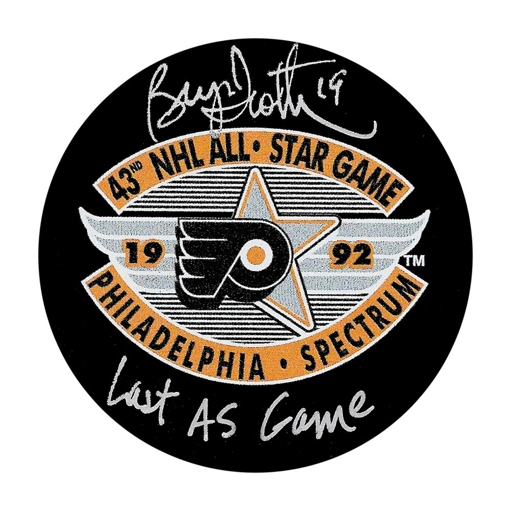 Bryan Trottier Autographed 1992 NHL All-Star Game Puck w/LAST AS GAME Inscription