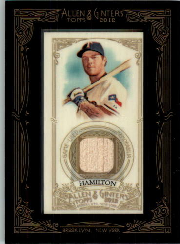 Photo of 2012 Topps Allen and Ginter Relics #JH Josh Hamilton