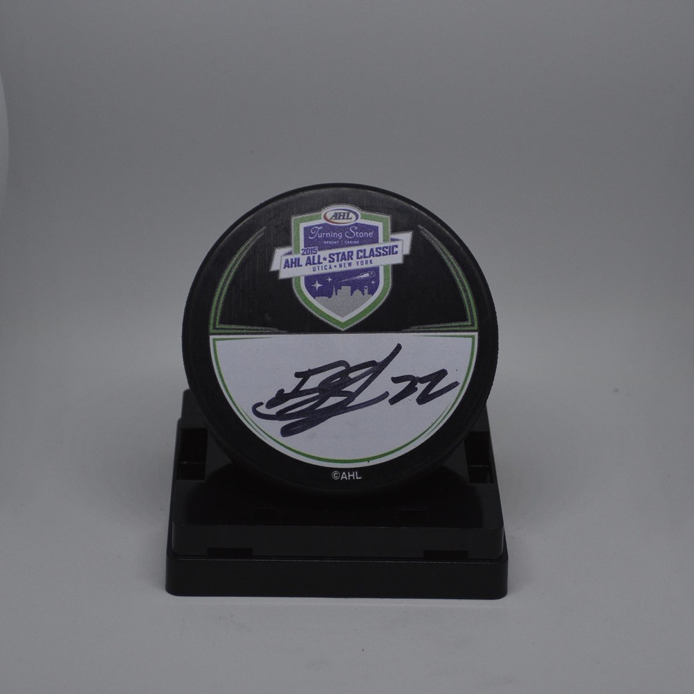 2015 AHL All-Star Classic Souvenir Puck Signed by #23 Drew Shore
