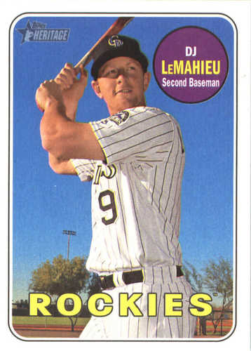 Photo of 2018 Topps Heritage #65 DJ LeMahieu