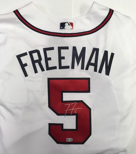 Photo of Freddie Freeman Autographed Authentic Braves Jersey