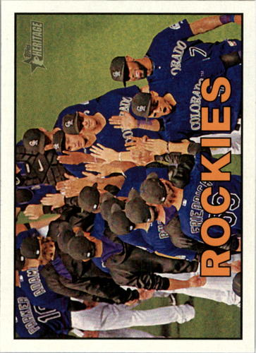 Photo of 2016 Topps Heritage #367 Colorado Rockies