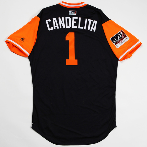 """Photo of Jose """"Candelita"""" Iglesias Detroit Tigers Game-Used 2018 Players' Weekend Jersey"""