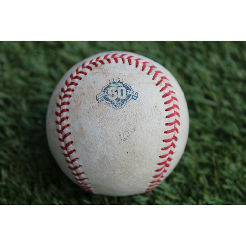 Photo of Game-Used Baseball: Wellington Castillo 113th Career Double (CWS @ KC - 9/10/18)