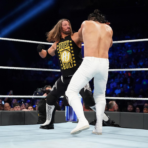 Photo of AJ Styles WORN & SIGNED Connor's Cure T-Shirt (SmackDown LIVE - 09/18/18)