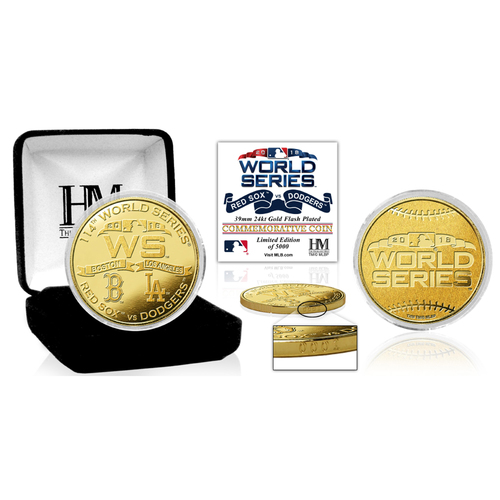 Photo of 2018 World Series Dueling Gold Mint Coin (Red Sox vs. Dodgers)