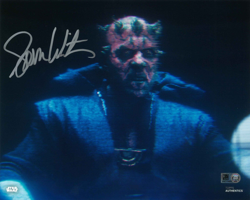 Sam Witwer As Maul 8X10 Autographed in Silver Ink Photo
