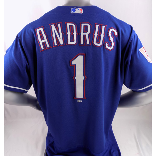 Photo of Game-Used Spring Training Jersey - Elvis Andrus - 2/27/19
