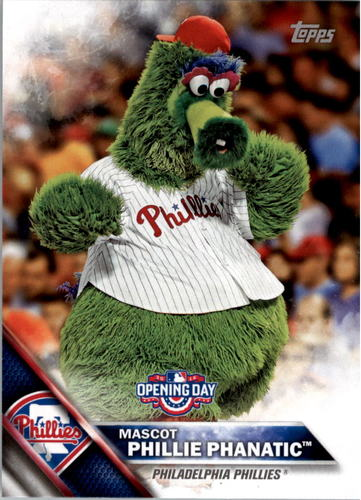 Photo of 2016 Topps Opening Day Mascots #M16 Phillie Phanatic