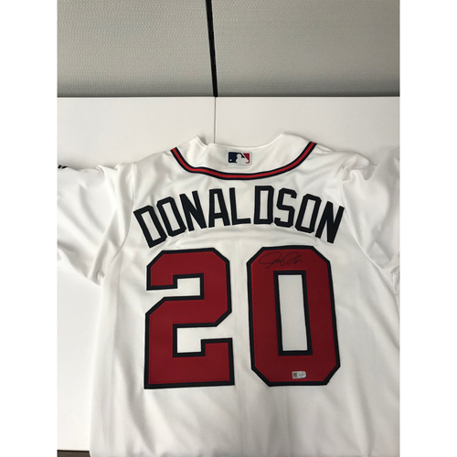 Photo of Josh Donaldson MLB Authenticated Autographed Atlanta Braves White Home Jersey