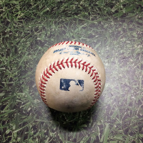 Photo of Game-Used Baseball ARI@MIL 08/25/19 - Josh Hader - Eduardo Escobar: Lineout