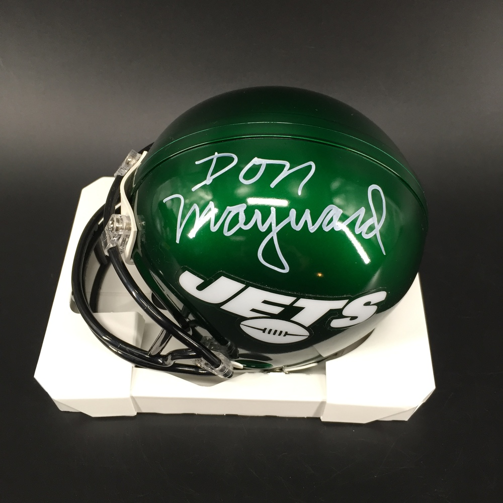 HOF - Jets Don Maynard Signed Mini Helmet
