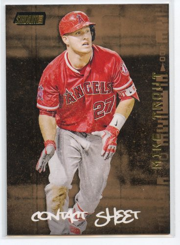 Photo of 2017 Stadium Club Contact Sheet Gold #CSMT Mike Trout