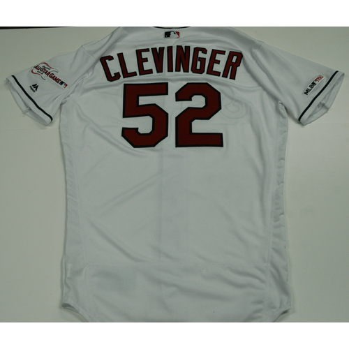 Photo of Mike Clevinger 2019 Team Issued Home White Jersey