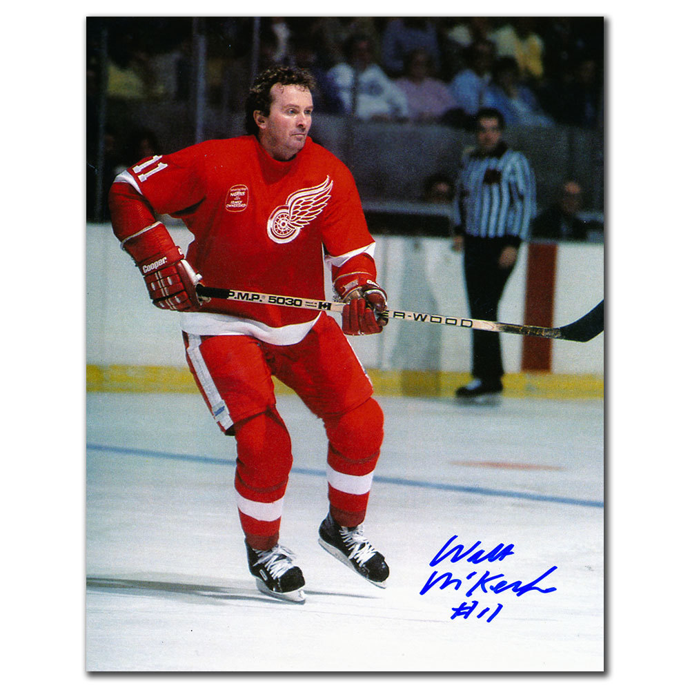 Walt McKechnie Detroit Red Wings Autographed 8x10