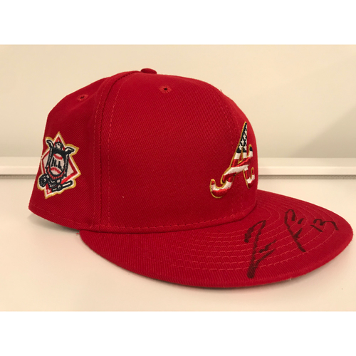 Photo of Ronald Acuña Jr. MLB Authenticated Autographed 4th Of July Hat