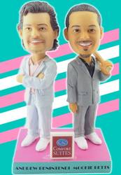 Photo of Andrew Benintendi & Mookie Betts Miami Vice Dual Bobblehead
