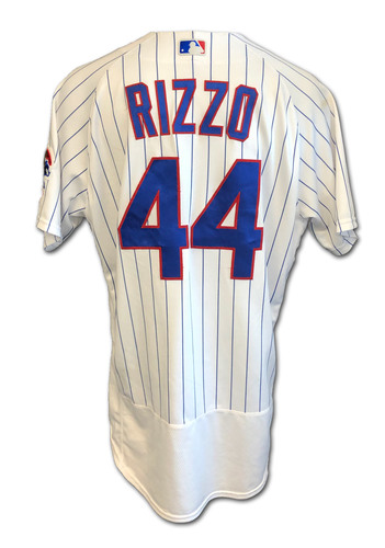 Photo of Anthony Rizzo Game-Used Jersey -- Cardinals vs. Cubs -- 9/7/2020 -- Size 48